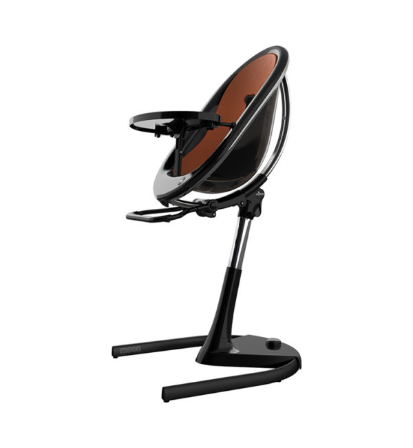 Mima Moon Black Chair Camel Seat