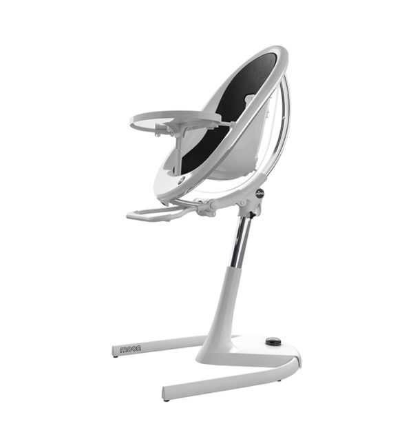Mima Moon White Chair Black Seat