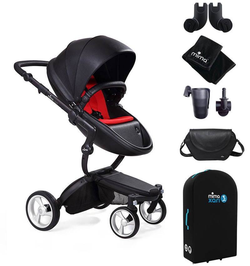 Mima Xari Black Frame Black Seat Ruby Red Starter Bundle