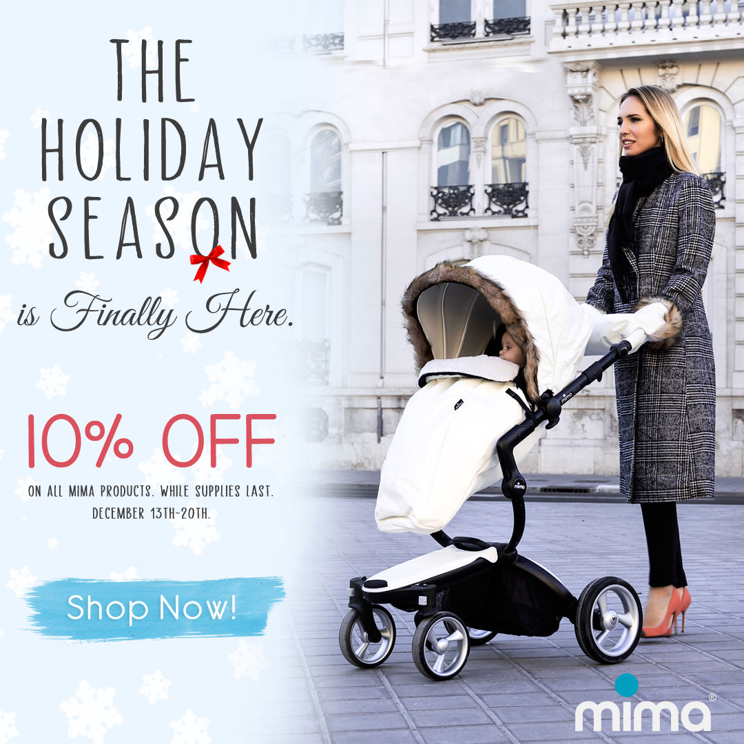 Mima Xari with bassinet included for Holidays